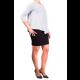 Mama Basic - Double Layer Maternity & Nursing Dress - Grey And Black