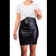 Mama Basic - Eco Leather Skirt Nursing Dress - Black And White
