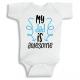 Twinkle Hands My Dad is Awesome Baby Onesie, Bodysuit, Romper