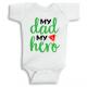 Twinkle Hands My Dad my number 1 hero Baby Onesie, Bodysuit, Romper