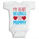 Twinkle Hands My heart belongs to mommy Baby Onesie, Bodysuit, Romper