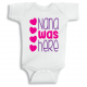 Twinkle Hands Nana was here Baby Onesie, Bodysuit, Romper