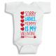 Twinkle Hands Sorry Ladies mommy is my valentine, Baby Onesie, Bodysuit, Romper