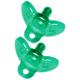 The First Years Green Gumdrop Newborn 0-3m Pacifier, 2Pcs