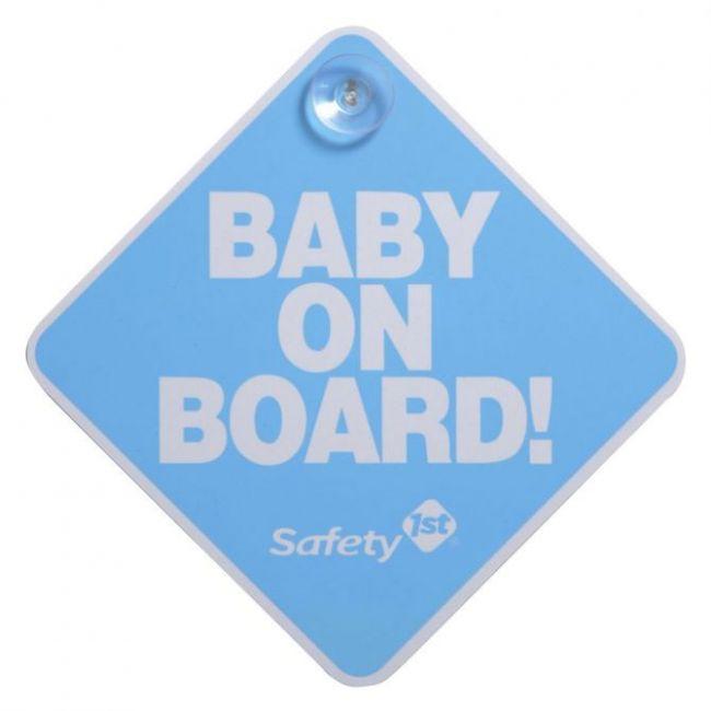 Safety 1st Blue Baby on board Car Sticker