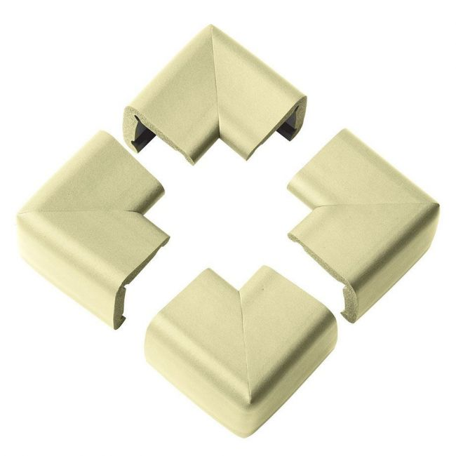 Duma Safe Child Safety Corner Cushion Ivory/Brown