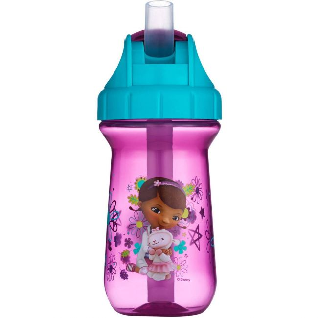 The First Years Disney Doc Mcstuffins 10Oz Flip-Top Straw Cup