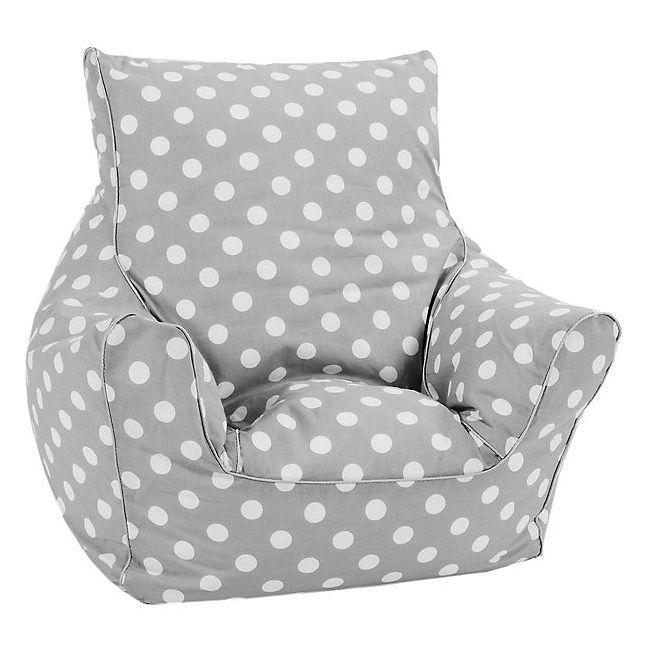 Delsit - Bean Chair - Grey with Polka Dots