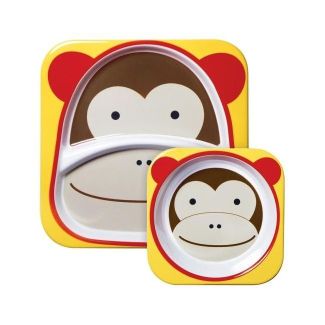 SkipHop Zoo Kid's Tableware Set, Monkey
