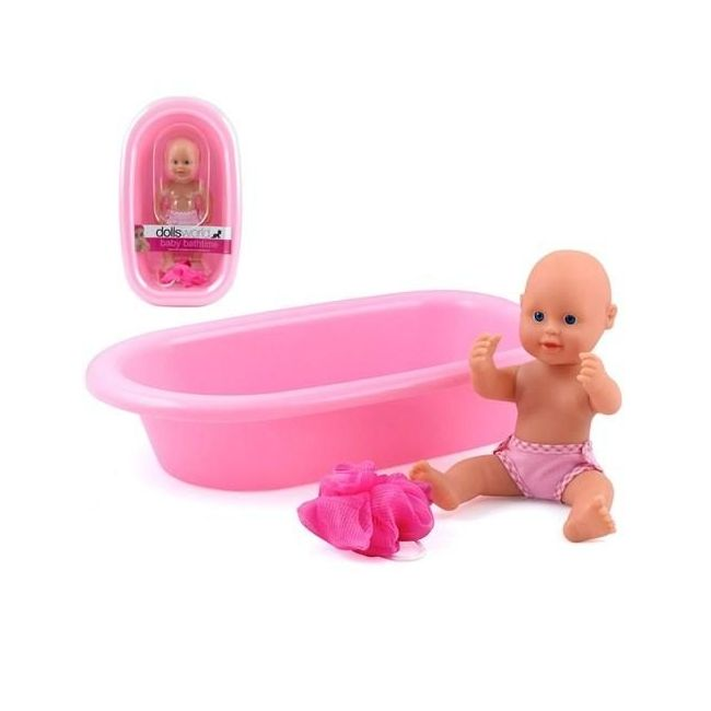 "Dollsworld Baby Bathtime 25cm (10"") Doll Set"
