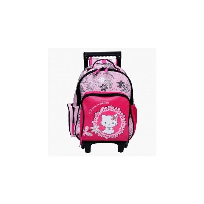 Disney Hello Kitty Printed Trolley Backpack with Zip Closure