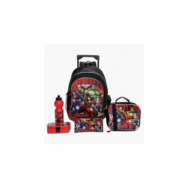 Disney Avengers Printed 5-Piece Trolley Backpack Set