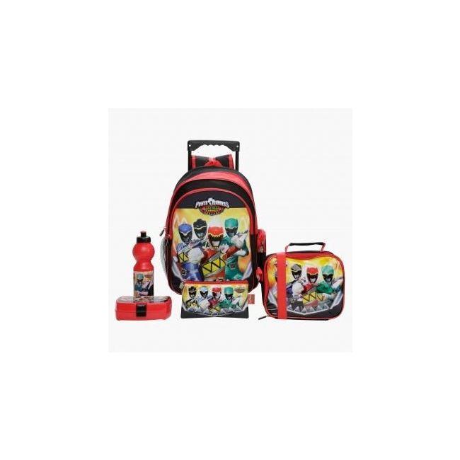 Disney Power Rangers Printed 5-Piece Trolley Backpack Set