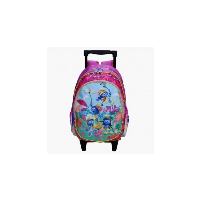 Disney The Smurfs Printed Trolley Bag with Two Wheels
