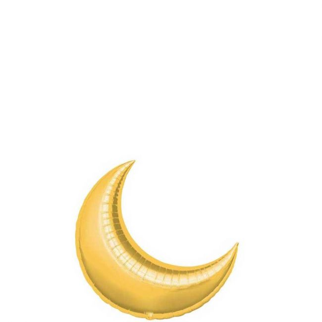 My Party Centre - Gold Crescent Mini Shape Balloon - 10in