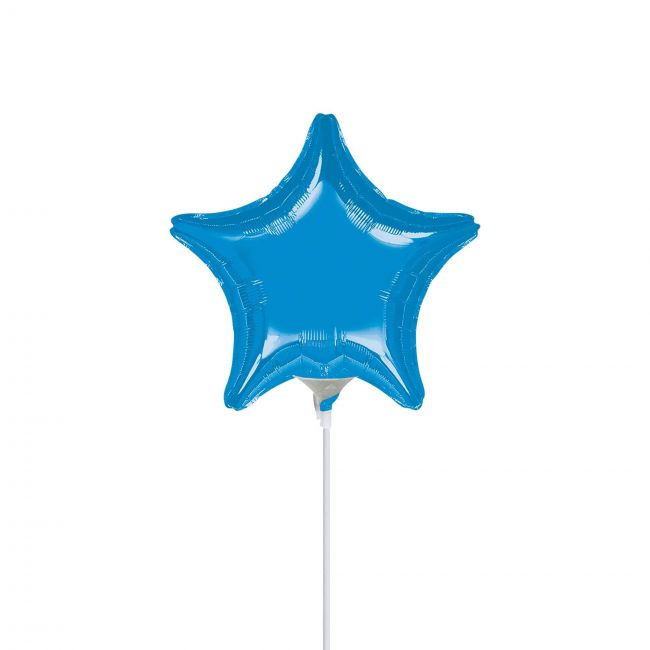 My Party Centre - Metallic Blue Star Foil Balloon - 9in