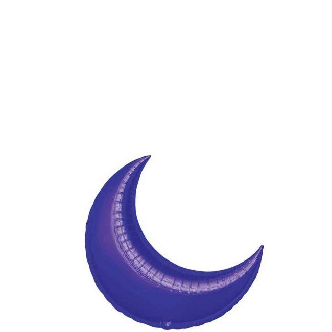 My Party Centre - Purple Crescent Mini Shape Balloon - 17in