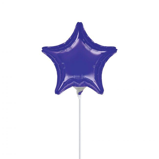 My Party Centre - Purple Star Mini Shape Balloon - 9in