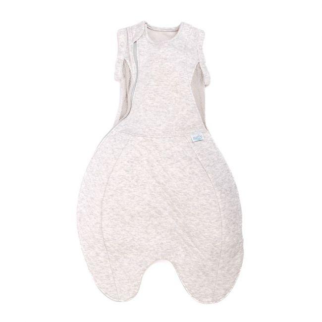 Purflo Swaddle to Sleep Bag 0-4m All Seasons - Minimal Grey