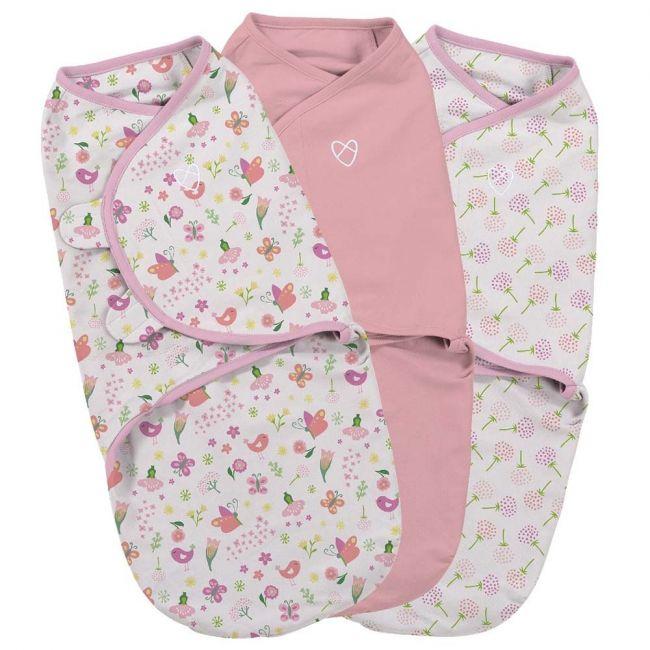 Summer Infant - Secret Garden Girl Swaddle Small Pack of 3