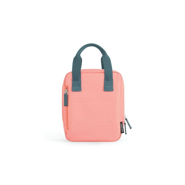 Ekobo - Go Isothermic RePet Lunch Bag Dashes Series Coral