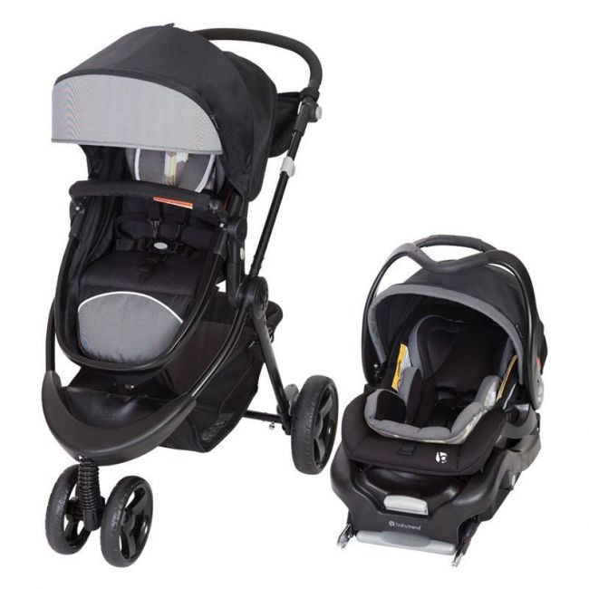 Baby Trend Black/Grey 1st Debut 3 Wheel Stroller/Carseat Travel System Metric