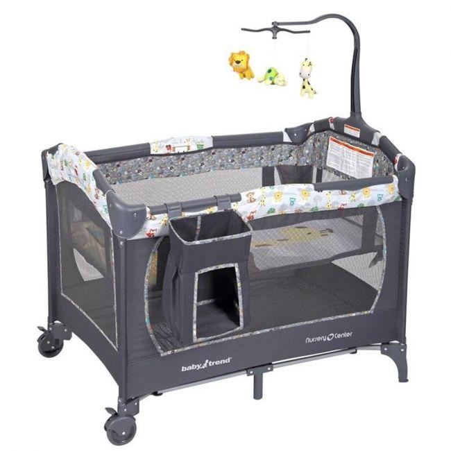 Baby Trend Grey Nursery Center/Playpen -Tanzania