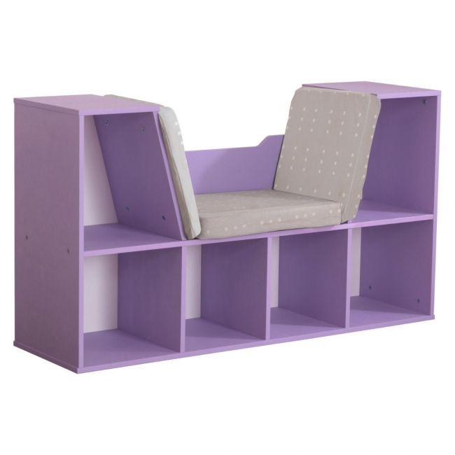 Kidkraft - Bookcase with Reading Nook - Lavender
