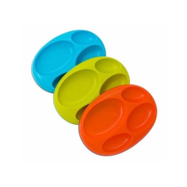 Boon Platter-Blue, Green & Orange