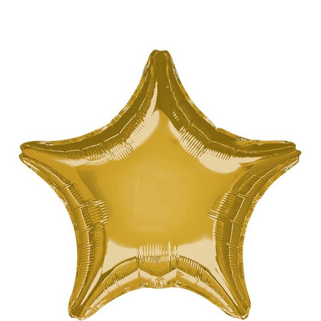 My Party Centre - Metallic Gold Star Foil Balloon - 19in