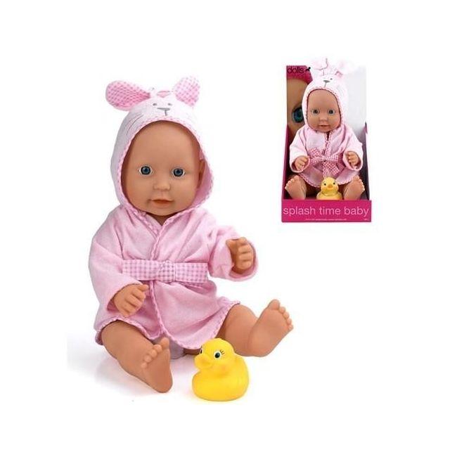 """Dollsworld Pink Splash Time Baby Boy 41cm (16"""") Doll Set"""