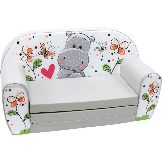 Delsit Sofa Bed Hippo Color Grey