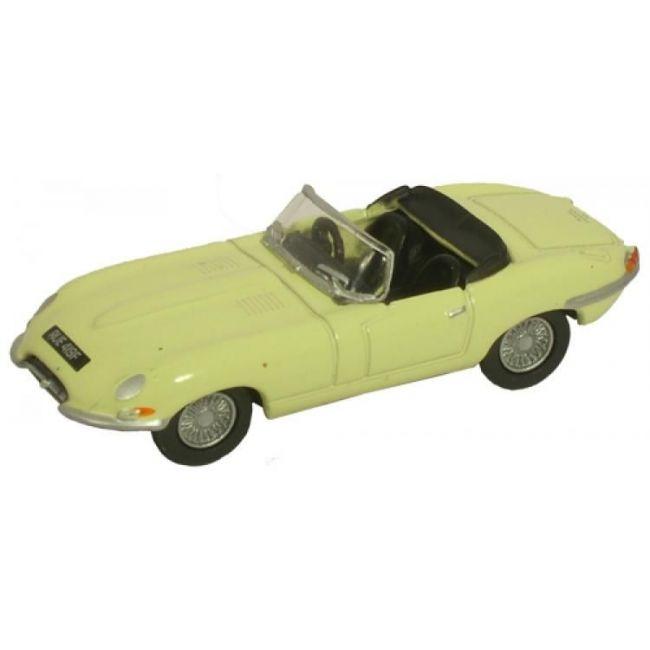 Oxford Diecast Jaguar E Type Pale Primrose Toy Car