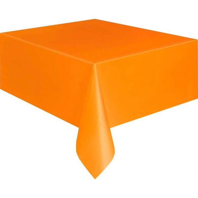 Unique Orange Plastic Table Cover