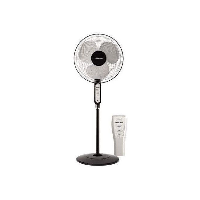 "Black & Decker 16"" inch Pedestal Stand Fan with Remote, Black - FS1620R-B5"