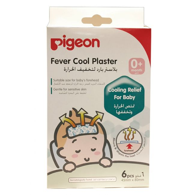 Pigeon Fever Cool Plaster For Baby's Forehead - 6pcs