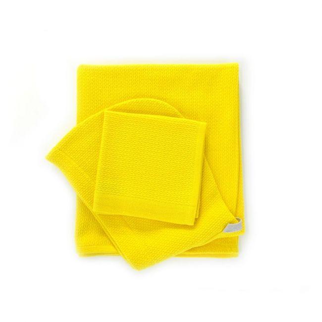 Ekobo - Bambino Baby Hooded Towel and Wash Cloth Set - Lemon