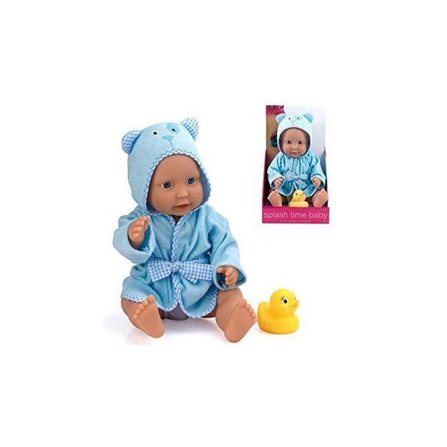 """Dollsworld Blue Splash Time Baby Boy 41cm (16"""") Doll Set"""