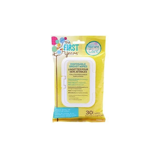 The First Years Soothing Breast Wipes 30 Pieces