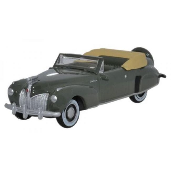 Oxford Diecast Lincoln Continental 1941 Pewter Grey Toy Car