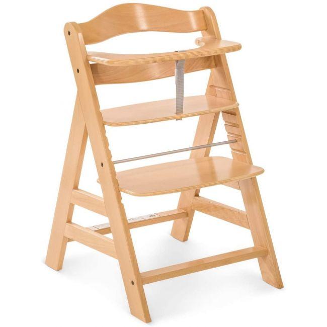 Hauck - Alpha+ Grow-Along Wooden High Chair - Natural