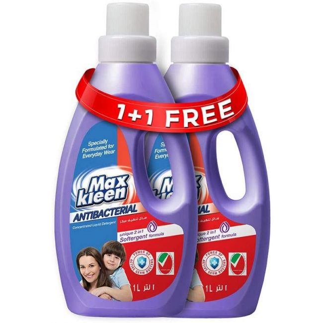 Maxkleen - AntiBacterial Concentrated Liquid Detergent 1L - 2pc