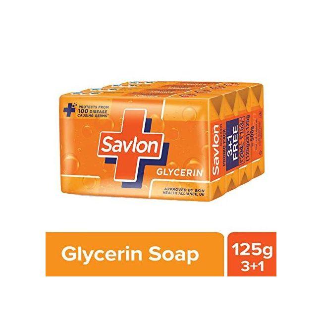 Savlon Soap Glycerine - 125 g x 4 (3+1)