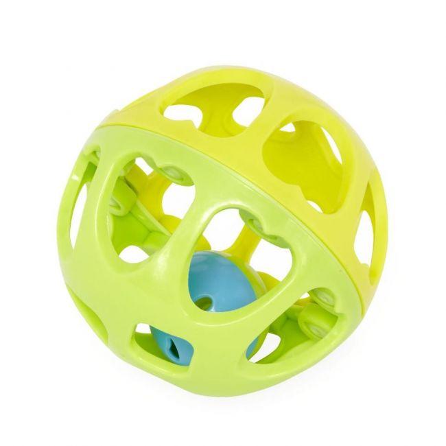 Little Hero 6m+ Rattle Ball - Green/Yellow