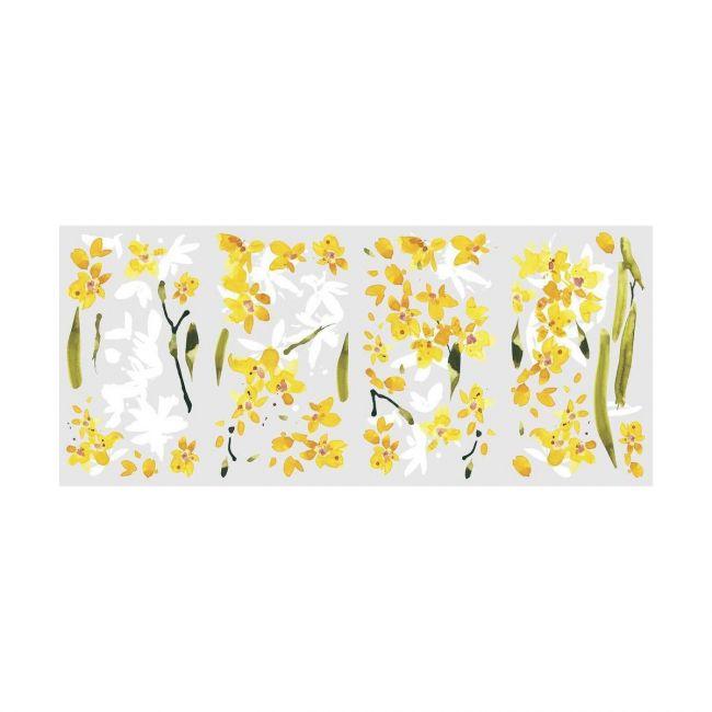 Room Mates Decals Yellow Flower Arrangement Decal