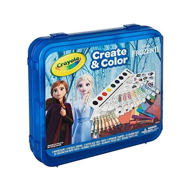 Crayola - Frozen 2 Create And Color Case - 70 Pieces