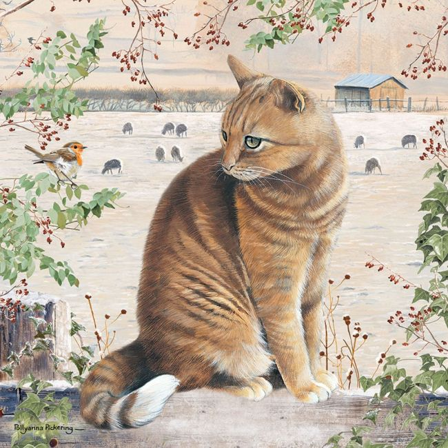 Otter House - Jigsaw Square - Christmas Cat (P)