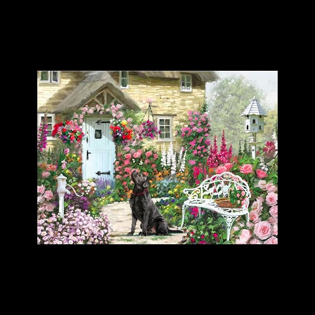Otter House - Jigsaw Rectangular - Cottage Garden (L)