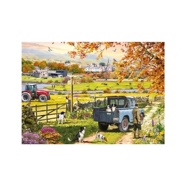 Otter House - Jigsaw Rectangular - Countryside Morning (L)