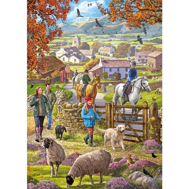 Otter House - Jigsaw Rectangular - Autumn Walk (P)